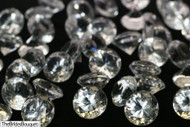 Diamond Confetti Table Decoration - 30 Carat Extra Large - 150 Pieces - Clear Diamond