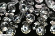 Diamond Confetti Table Decoration - 30 Carat Extra Large - 150 Pieces - Clear Diamond