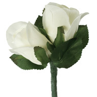 Ivory Silk Rose Double Boutonniere - Groom Boutonniere Prom