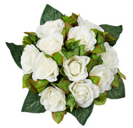 Ivory Silk Rose Nosegay - Silk Bridal Wedding Bouquet