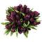 Tulip Bouquet 54 Silk Plum Tulips - Bridal Wedding Bouquet
