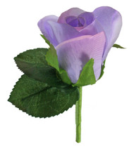 Lavender Silk Rose Boutonniere - Groom Wedding Boutonniere Prom
