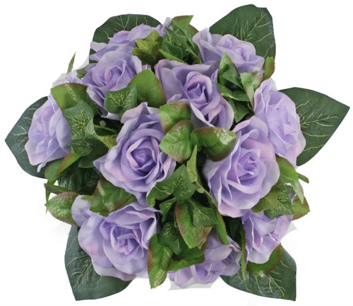 Lavender Silk Rose Nosegay - Bridal Wedding Bouquet