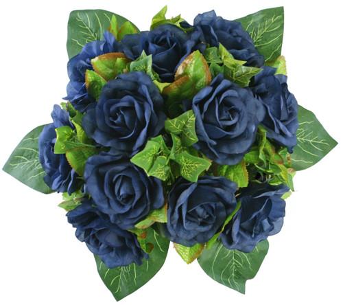 Navy blue silk rose nosegay silk flower bridal bouquet navy blue silk rose nosegay bridal wedding bouquet mightylinksfo
