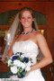Navy Blue and Ivory Silk Rose Nosegay - Bridal Wedding Bouquet