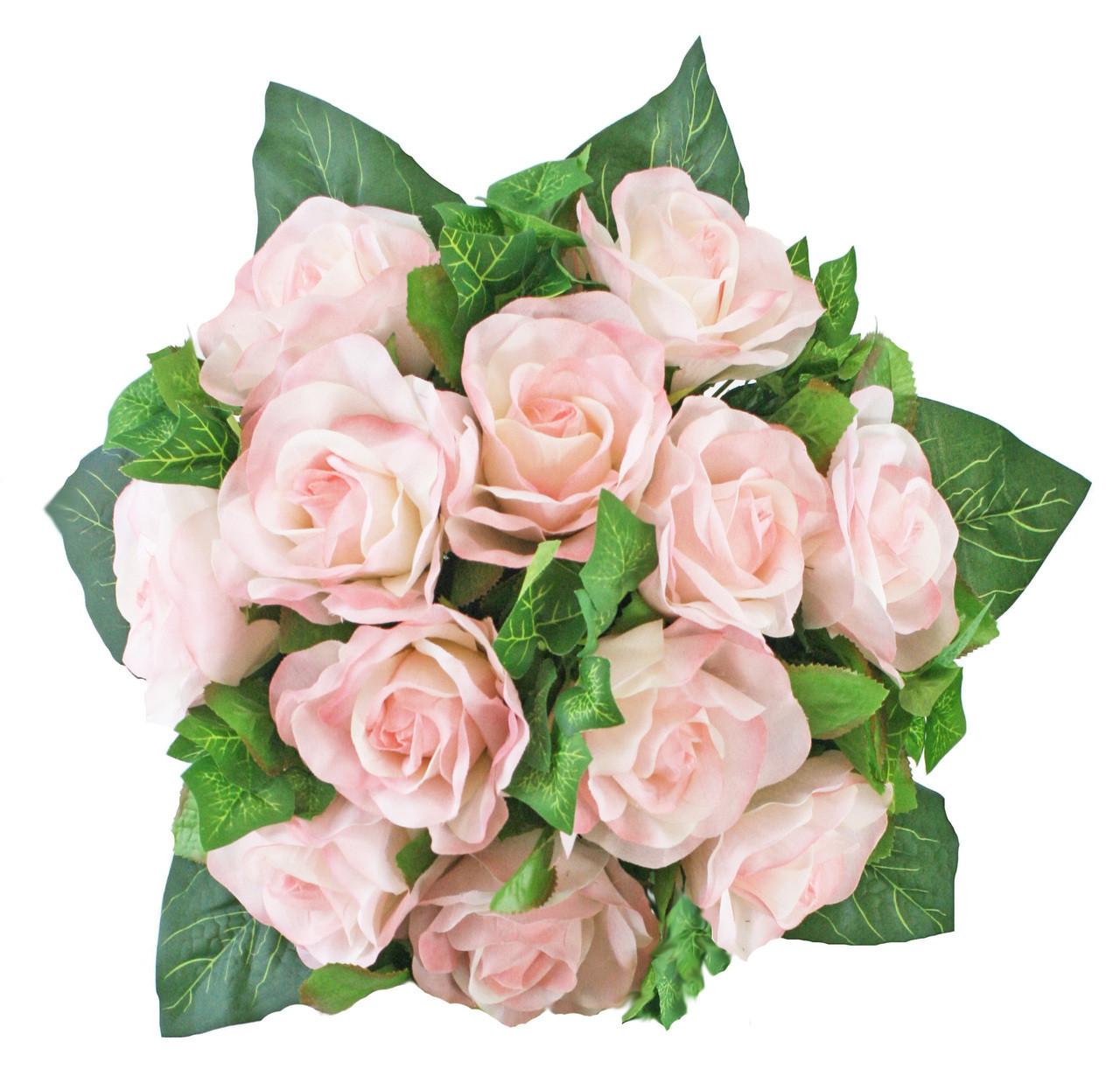 Pink Silk Rose Nosegay -Silk Flower Bridal Bouquet