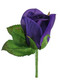 Purple Silk Rose Boutonniere - Groom Boutonniere Prom