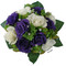 Purple and Ivory Silk Rose Nosegay - Bridal Wedding Bouquet