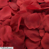 Red Silk Rose Petals - 250 Petals - Wedding Decoration