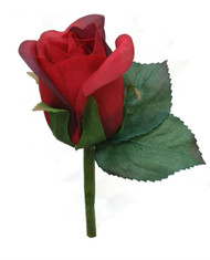 Red Silk Rose Boutonniere - Groom Boutonniere Prom