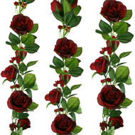 Red Silk Rose Garland - Wedding Decoration