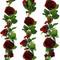 Red Silk Rose Garland - Wedding Decoration
