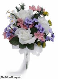 Wildflower Toss Bouquet - Silk Bridal Wedding Bouquet