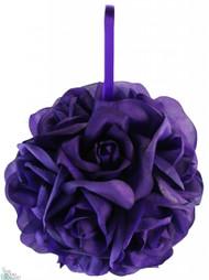 Garden Rose Kissing Ball - Purple - 6 inch Pomander