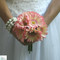 Blush Pink Ivory Daisy Bouquet - Bridal Wedding Bouquet- 9 stem