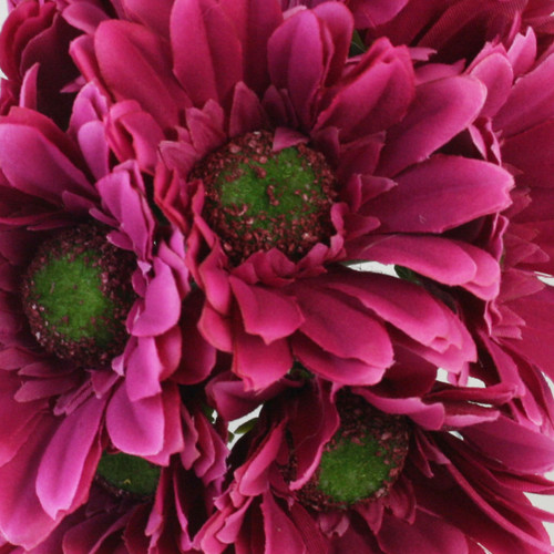 Hot Pink Daisy Bouquet - Silk Bridal Wedding Flowers- 9 stems ...