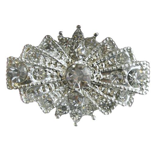 3 pcs ART DECO Flatback Style Rhinestone Embellishment Vintage Wedding Bridal Accessories Invitations Crystal Bouquet Hair Clip Jewelry Button Brooch