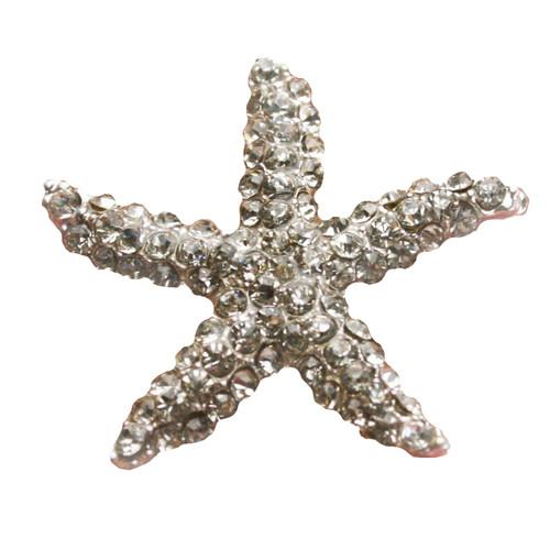 3 pcs STARFISH Flatback Style Rhinestone Embellishment Beach Bridal Wedding Accessories Invitations Crystal Bouquet Hair Clip Jewelry Button Brooch
