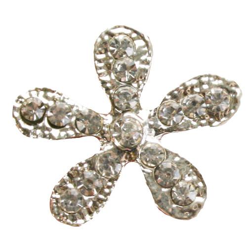 3 pcs FLOWER Flatback Style Rhinestone Embellishment Beach Bridal Wedding Accessories Invitations Crystal Bouquet Hair Clip Jewelry Button Brooch