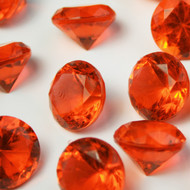Diamond Confetti Table Decoration - Table Confetti 225 Pieces - 20mm Extra Large - Burnt Orange
