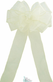 Pew Bows Ivory Sheer - Set of 4 Ivory Bows - Reception Decoration