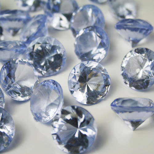 Diamond Confetti Table Decoration - Table Confetti 225 Pieces - 20mm Extra Large - Ice Blue
