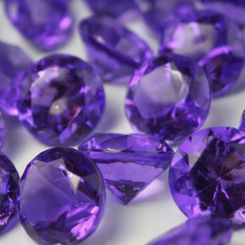 Diamond Confetti Table Decoration - Table Scatter 225 Piece/1 Pound - 20mm/30 Carat Extra Large - Purple