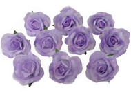10 Lavender Rose Heads Silk Flower Wedding/Reception Table Decorations (Large)