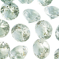 Diamond Confetti Table Decoration - 60 Carat Extra Large - 40 Pieces - Clear Diamond