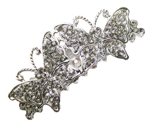 Butterfly Hair Clip Rhinestone Flower Girl Bridal Wedding Accessories