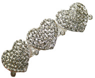 Heart Hair Clip Rhinestone Vintage Bridal Wedding Accessories Hearts