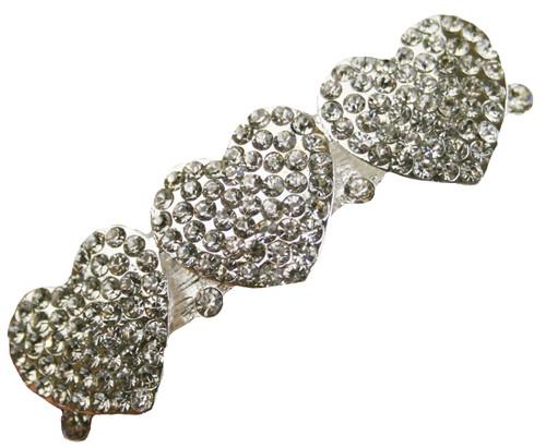 Heart Hair Clip Rhinestone Vintage Bridal Wedding Accessories Hearts