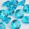 Diamond Confetti Table Decoration - 60 Carat Extra Large - 40 Pieces - Turquoise Diamond