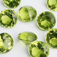 Diamond Confetti Table Decoration - 60 Carat Extra Large - 40 Pieces - Lime Green Diamond