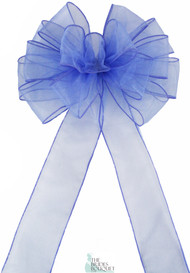 Pew Bows Periwinkle Sheer - Set of 4 Periwinkle Bows - Reception Decoration
