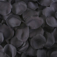 Black Silk Rose Petals - 250 Petals - Wedding Decoration