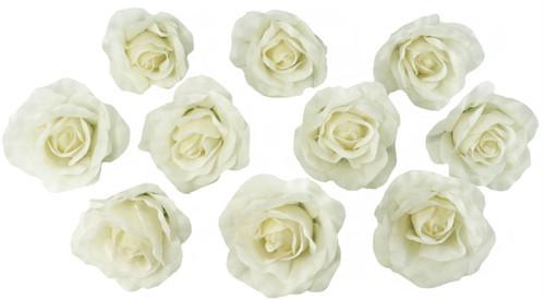 10 ivory rose heads silk flower weddingreception table decorations 10 ivory rose heads silk flower weddingreception table decorations bulk silk flowers mightylinksfo