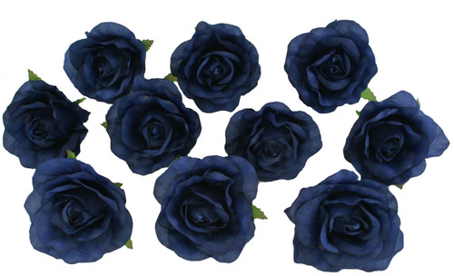 10 navy blue rose heads silk flower weddingreception table 10 navy blue rose heads silk flower weddingreception table decorations bulk silk flowers mightylinksfo