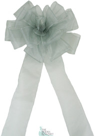 Pew Bows Silver Sheer - Set of 4 Silver Bows - Reception Decoration
