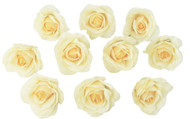 10 Yellow Rose Heads Silk Flower Wedding/Reception Table Decorations Bulk Silk Flowers