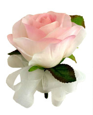 Pink Open Silk Rose Corsage - Wedding Corsage Prom