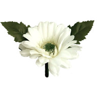 Ivory Silk Daisy Boutonniere - Groom Boutonniere Prom