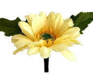 Yellow Silk Daisy Boutonniere - Groom Boutonniere Prom