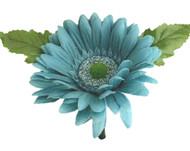 Aqua Blue Silk Daisy Boutonniere - Groom Boutonniere Prom