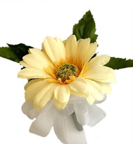 Yellow Silk Daisy Corsage - Wedding Corsage Prom