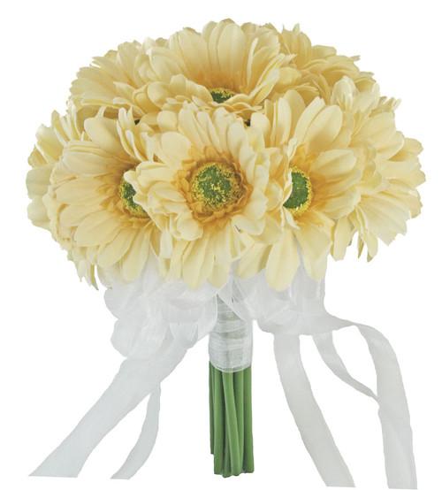 Yellow Daisy Bouquet Large - Silk Bridal Wedding Bouquet ...