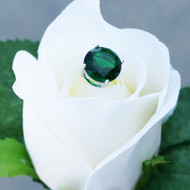 Emerald Green 3 Carat Diamond Jewels for Bouquets - 12 Stems
