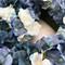Navy and Light blue hydrangea silk wedding flower heart wreath