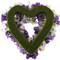 Purple and Lavender Heart Silk Wedding Flower Wreath