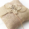 Ideal for rustic weddings and any event with a natural, outdoorsy theme. Decorative jute ribbons are perfect to tie the rings onto the pillow.